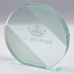 MODERN OVAL EXPRESS GLASS AWARD 140MM (15MM THICK) AVAILABLE IN 3 SIZES