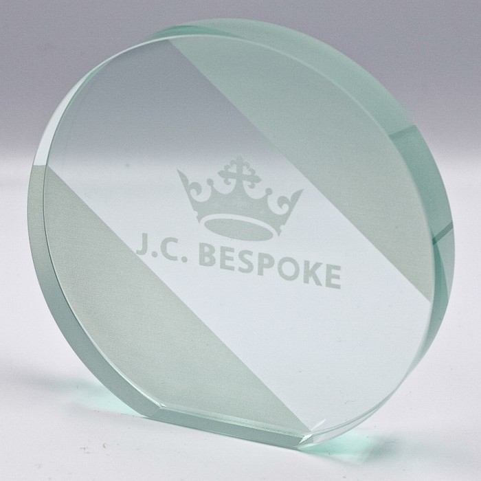 MODERN OVAL EXPRESS GLASS AWARD 100MM (15MM THICK) AVAILABLE IN 3 SIZES