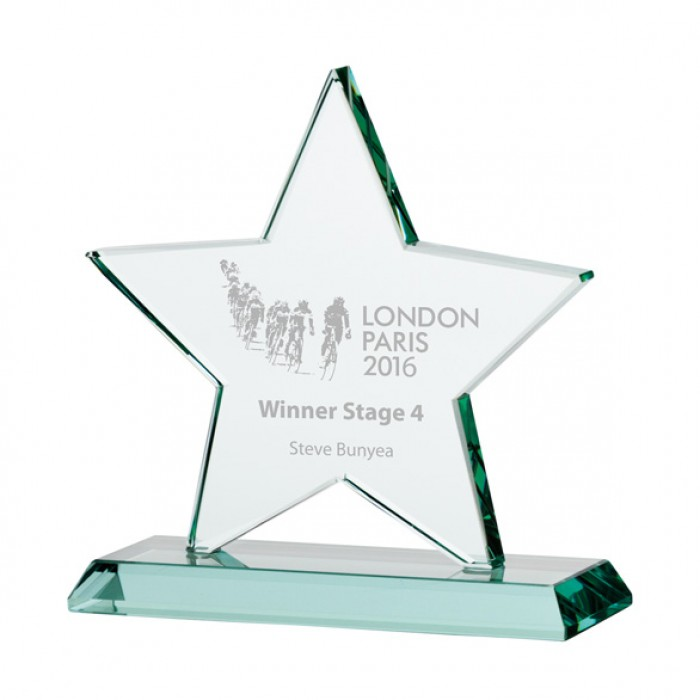 GALAXY STAR JADE GLASS AWARD - 135MM - AVAILABLE IN 3 SIZES