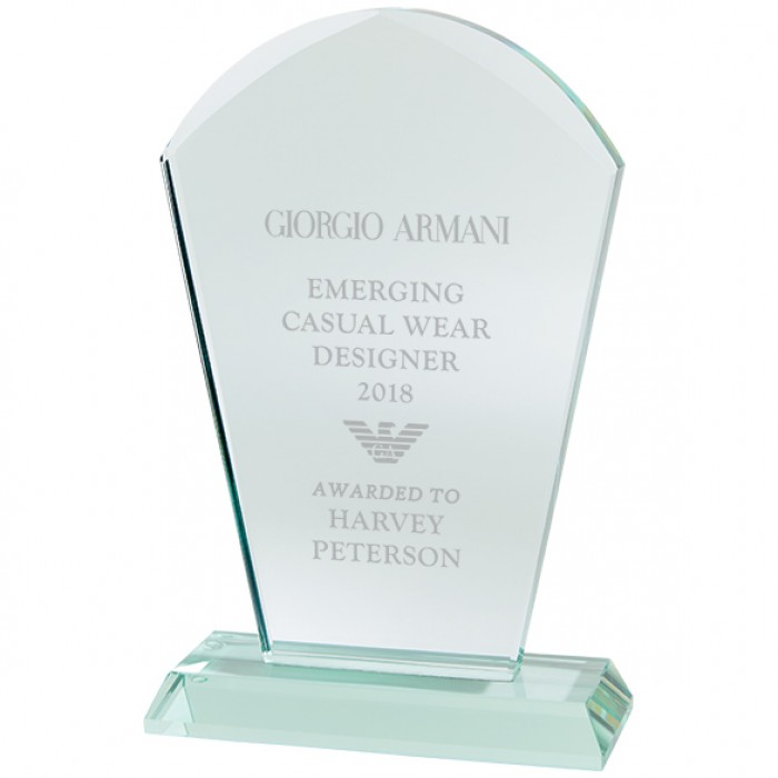 EXPLORER STAR JADE GLASS AWARD - 170MM - AVAILABLE IN 3 SIZES