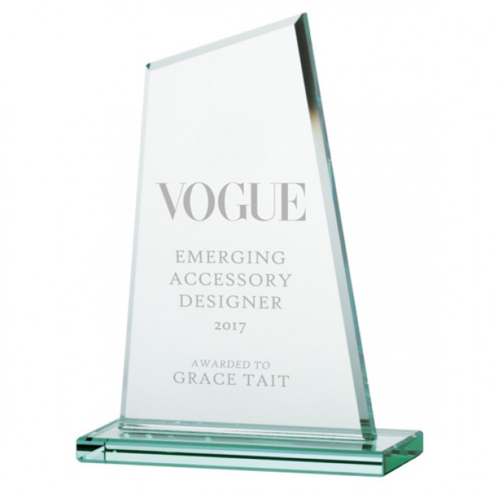VANQUISH JADE GLASS AWARD - 150MM - AVAILABLE IN 3 SIZES