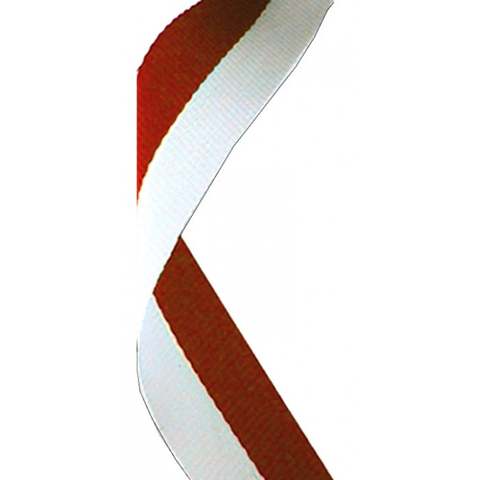 22MM RED/WHITE RIBBON