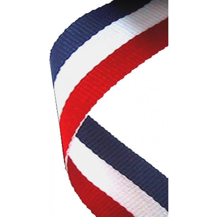 38MM RED, WHITE & BLUE RIBBON